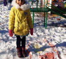 Рисование на снегу в подготовительной группе
